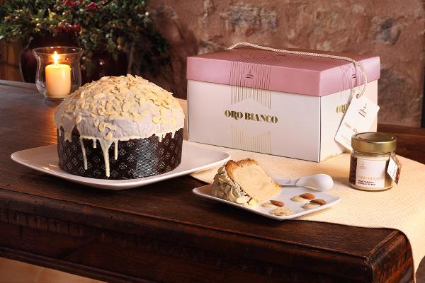 Panettone Mandeln Oro Fiasconaro mit Mandeln Crème
